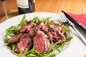 tagliata di carne del wine bar zerosettantacinque