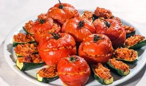 Pomodori e zucchine al riso