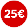 Bollino prezzo 25 euro, venticinque euro, ristorante economico, ristorante a 25 euro